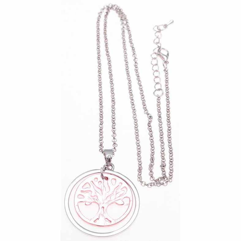 JN28 RoseGold Silver Tree of Life Pendant Necklace Minimum 2
